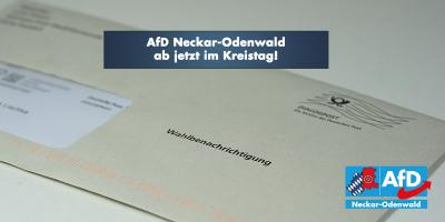 AfD Neckar-Odenwald ab jetzt im Kreistag!