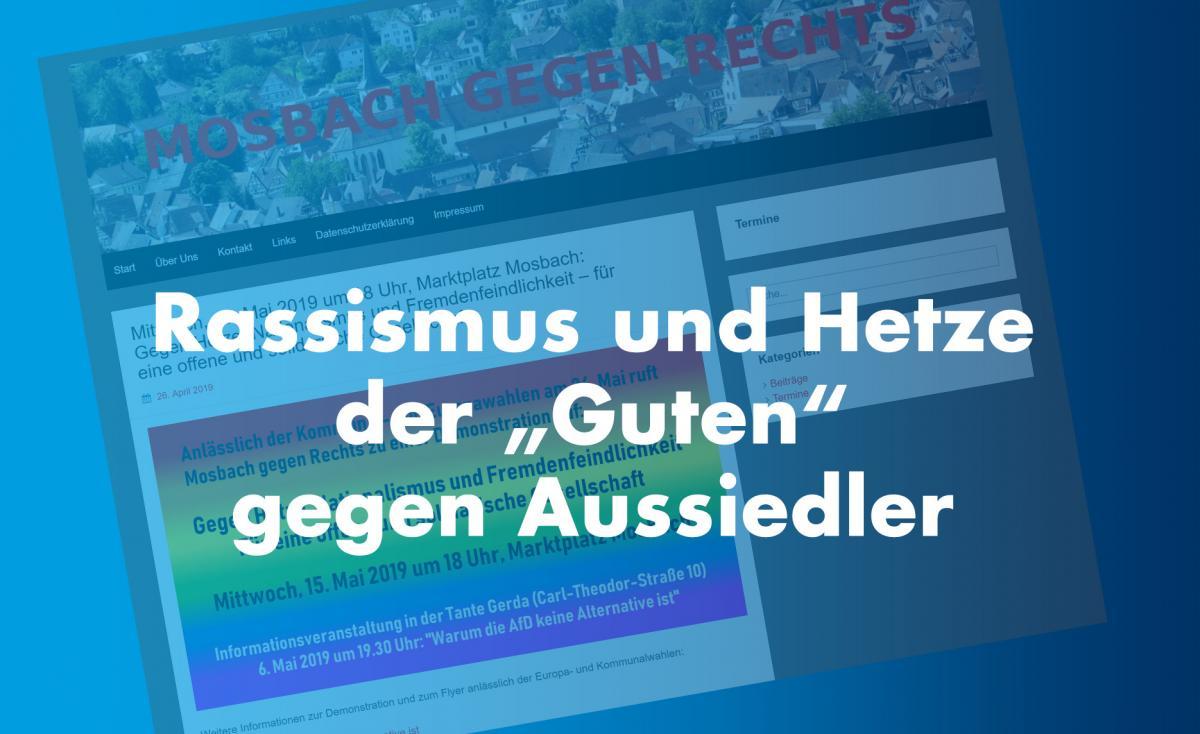 Mosbach gegen Rechts: Rassismus gegen Aussiedler