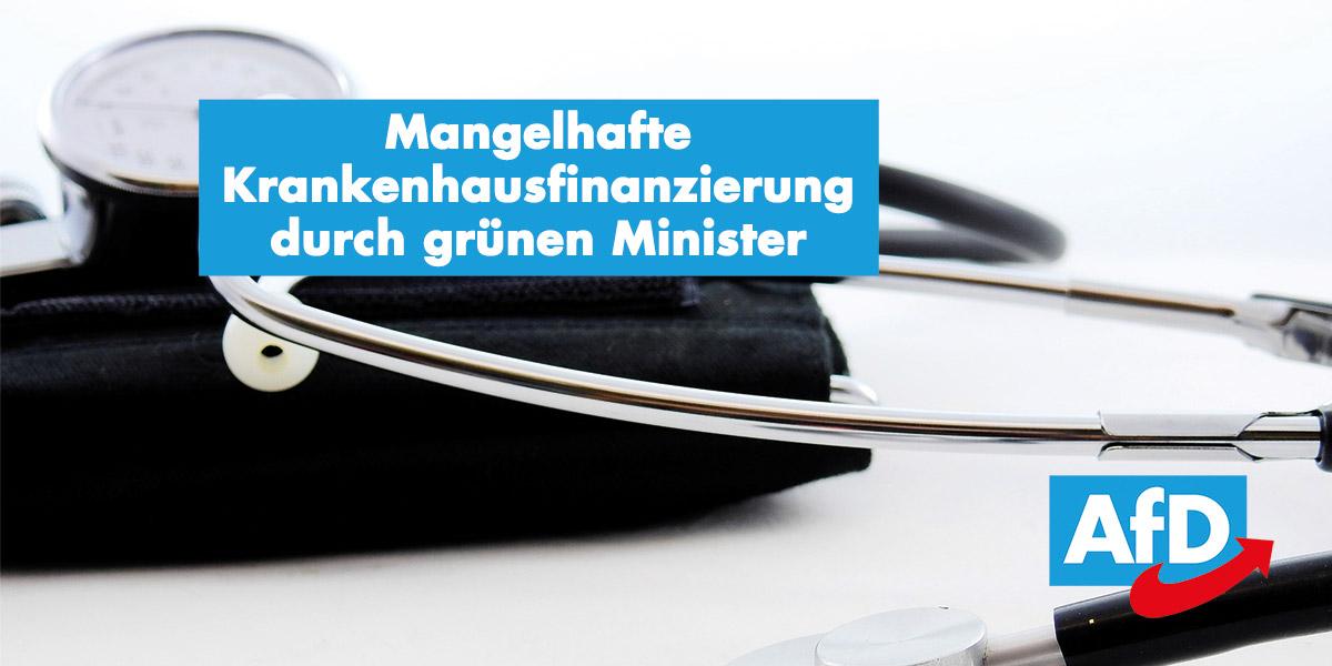 Unzureichende Krankenhausfinanzierung durch Sozialminister Manfred Lucha