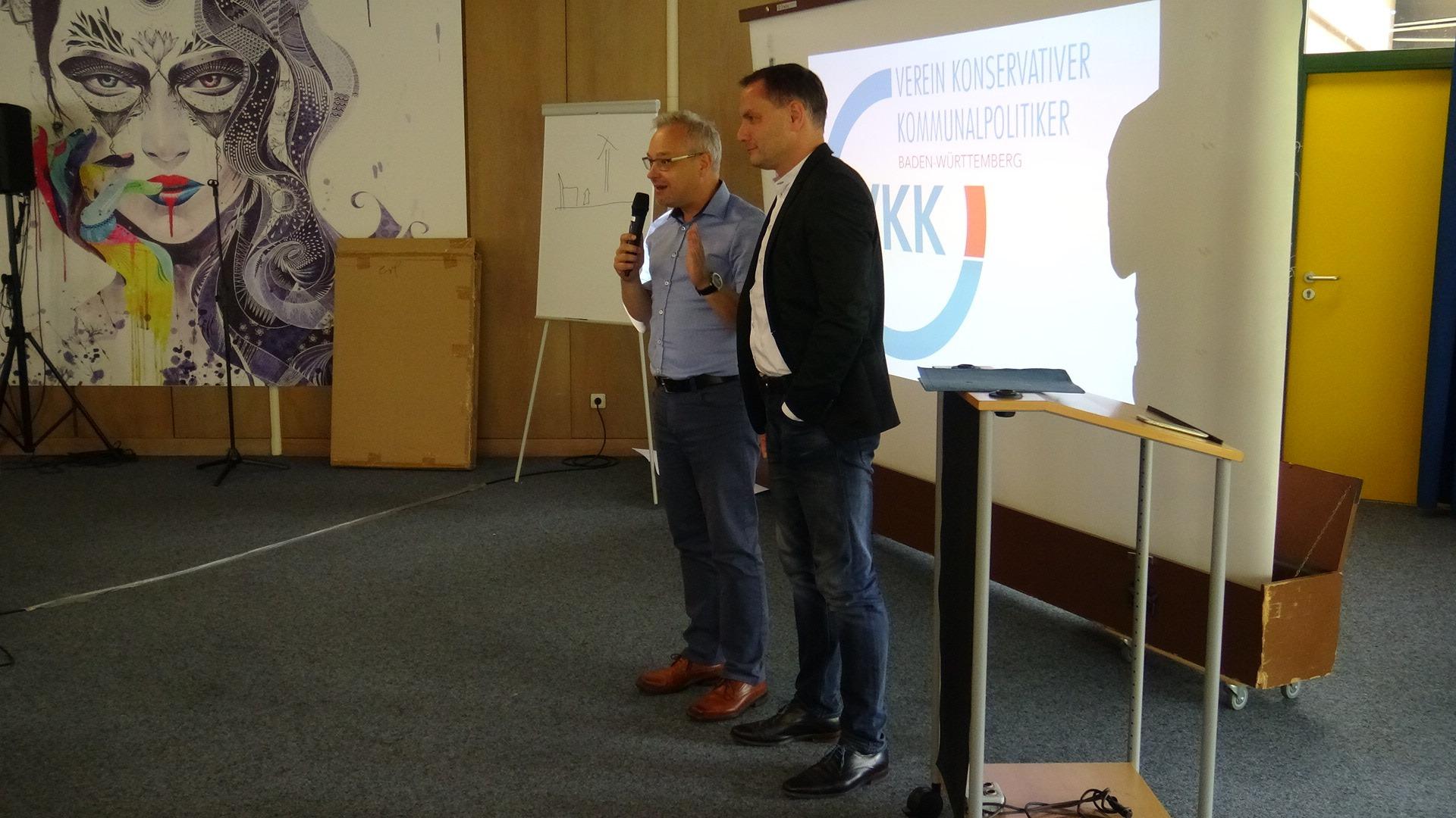 Tino Chrupella und Marc Berndhard beim VKK BW