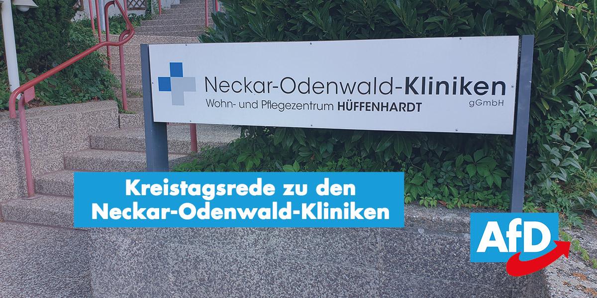 Kreistagsrede zu den Neckar-Odenwald-Kliniken