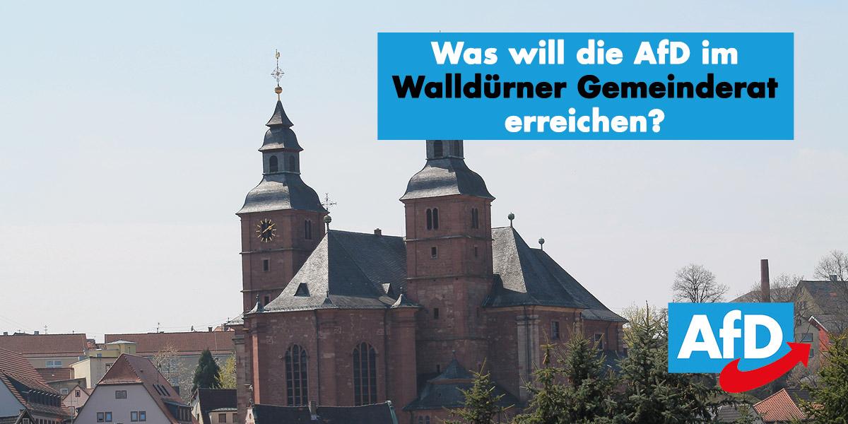 Was will die AfD im Walldürner Gemeinderat erreichen?