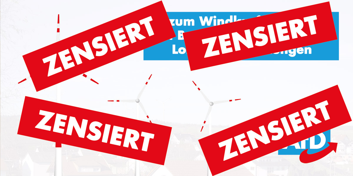 Umweltschutzverbände drohen AfD, nachdem sie gegen Windkraft in Buchen waren