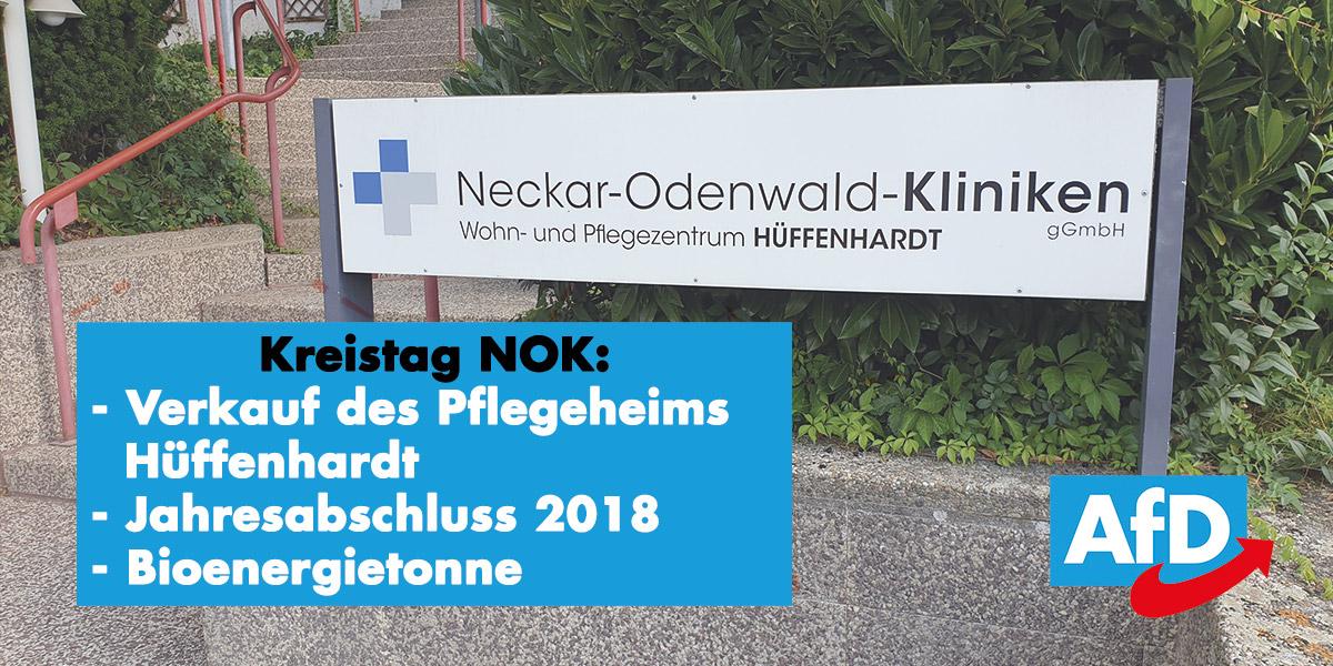 Kreistag Oktober: Pflegeheim Hüffenhardt, Jahresabschluss 2018 und Bioenergietonne