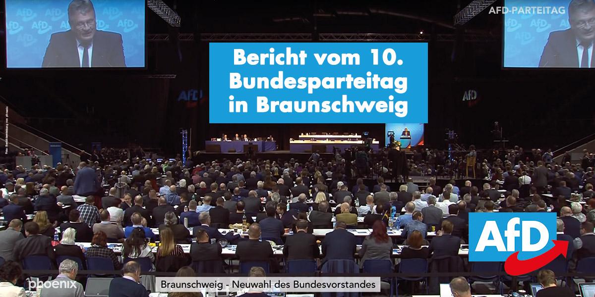 10. Bundesparteitag in Braunschweig am 30.11./01.12.2019
