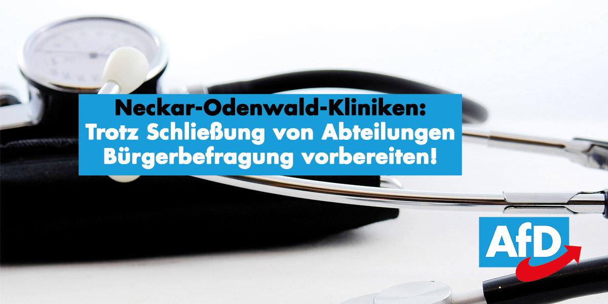 Zur Schließung von Kliniken-Abteilungen: trotzdem Bürgerbefragung vorbereiten!