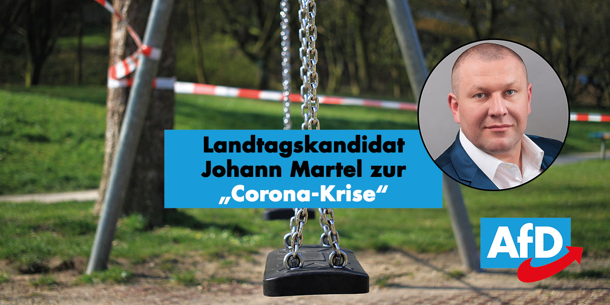 Landtagskandidat Johann Martel zur Coronakrise