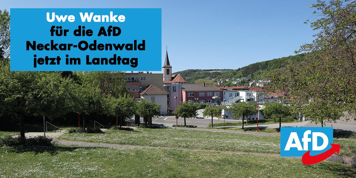 Uwe Wanke für die AfD Neckar-Odenwald jetzt im Landtag