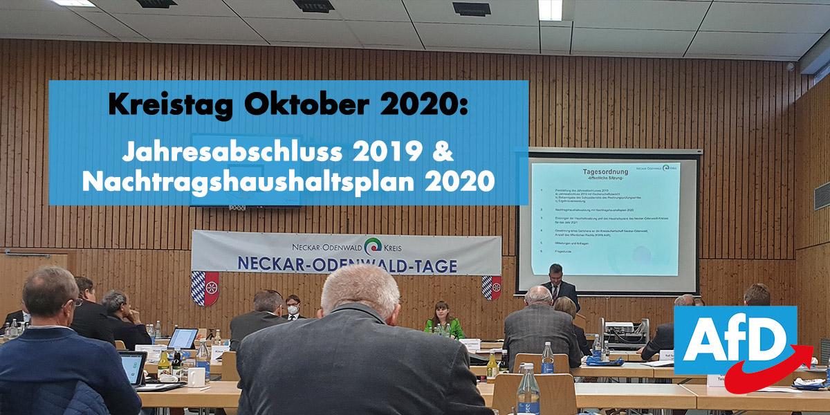 Kreistag Oktober 2020: Landrat Dr. Achim Brötel verkündet die Kandidatur für eine weitere Amtszeit