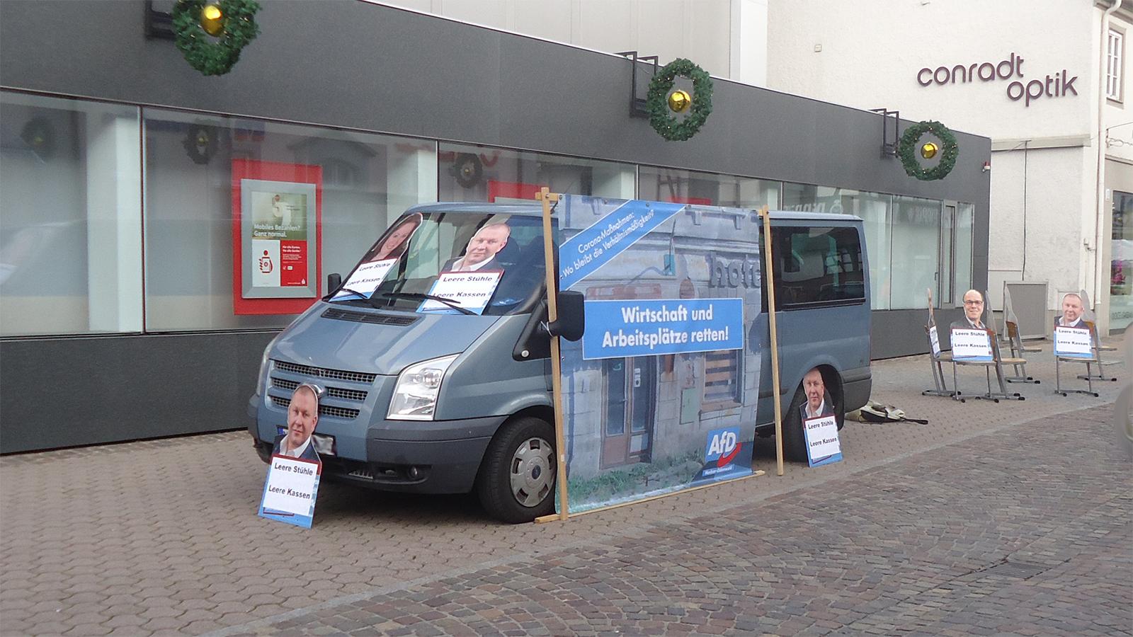 AfD-Aktion in Mosbach gegen verlängerten Lockdown: Politik ohne Verhältnismäßigkeit