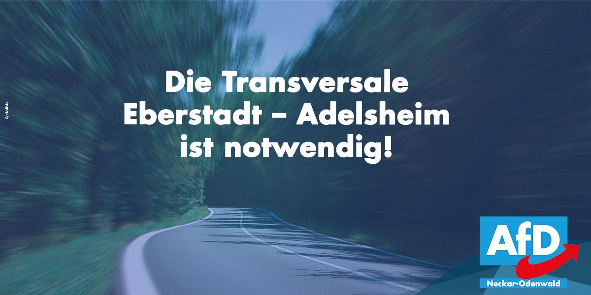 Die Transversale Eberstadt – Adelsheim (K 3972) ist notwendig!