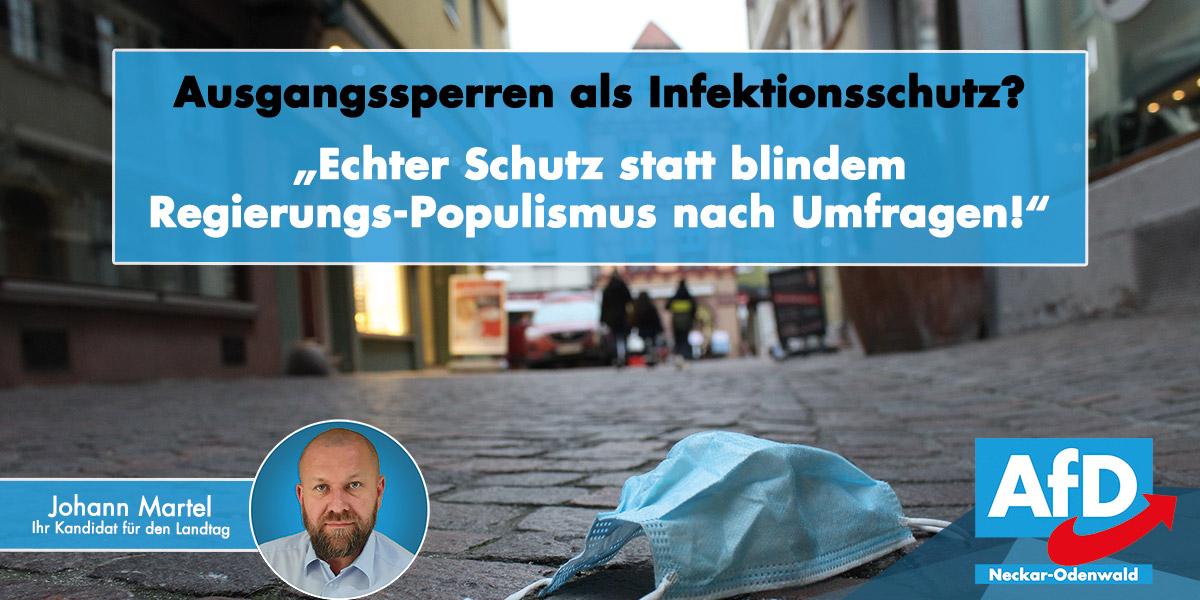 Ausgangsbeschränkungen: Echte Schutzmaßnahmen statt blindem Aktionismus!