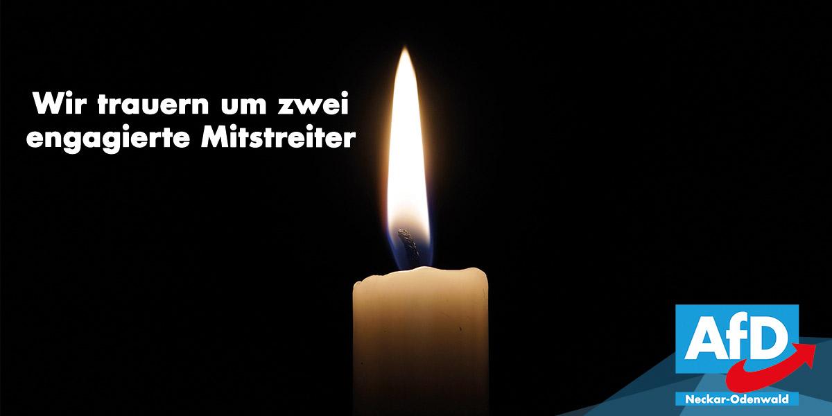 Wir trauern um zwei engagierte Mitstreiter