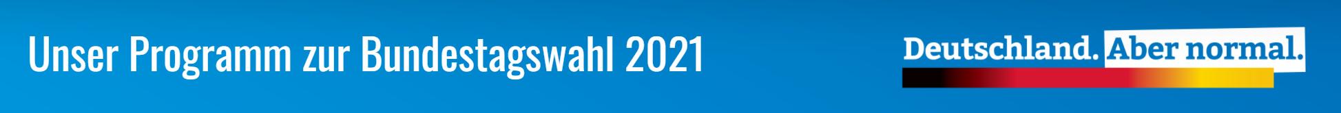 Unser AfD Programm zur Bundestagswahl 2021